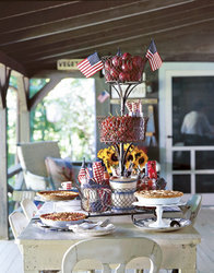 Add a few flags to picnic table setup