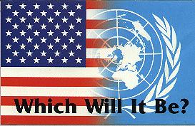 Choose America or the United Nation Human Global Management making you an Insect.